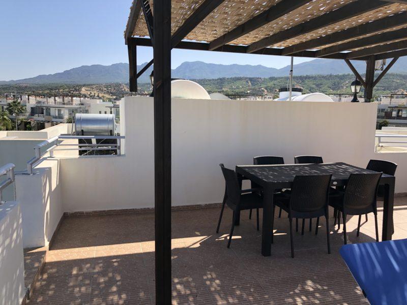 Spiseplass på takterrassen